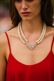 Shoptiques Product: Pearl and Crystal Necklace Set