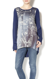 Inoah Blue Pattern Tunic - Product Mini Image