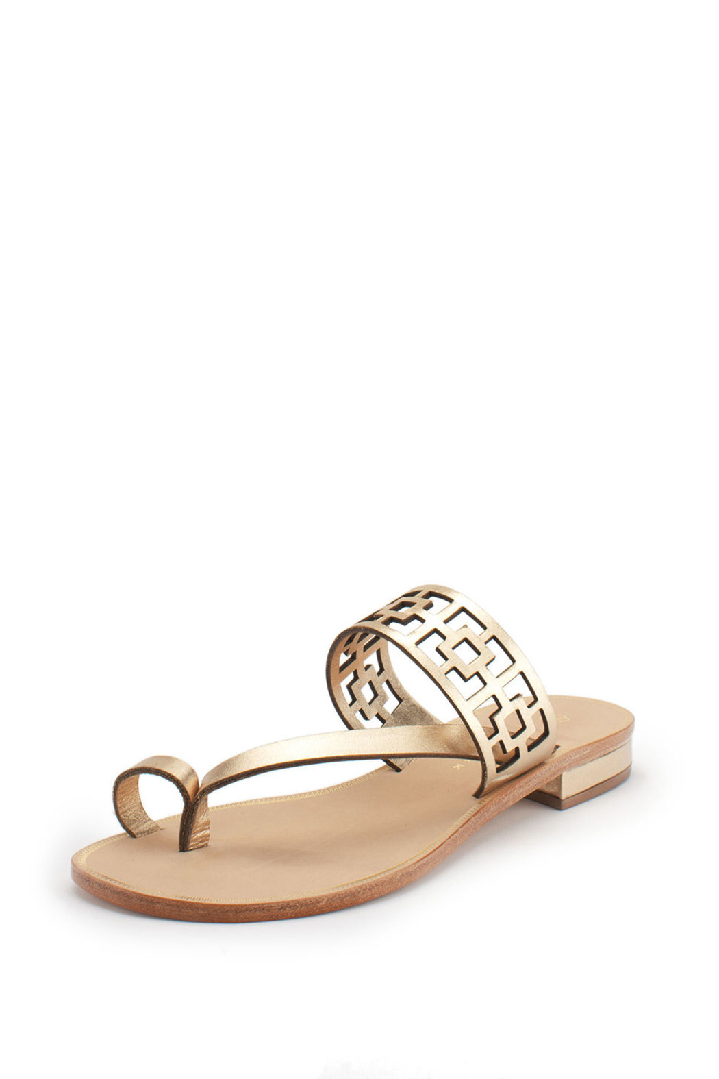 Trina Turk Gold Brentwood Sandal - Front Cropped Image