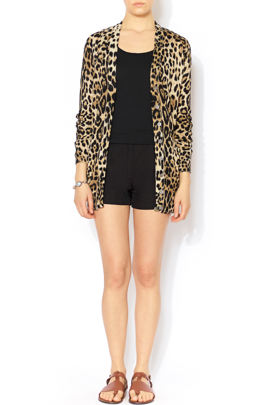 Ellison Leopard Print Cardigan from Glendale by Pink House ...