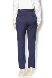 Pinkyotto Navy High Waisted Tie Pants - Back cropped