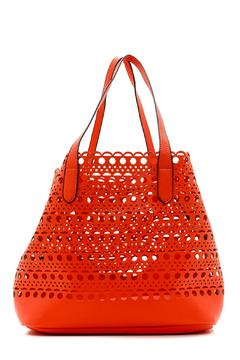 Street Level Coral Cutout Tote - Alternate List Image