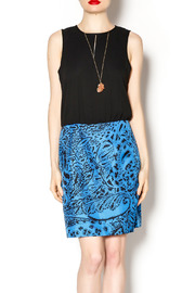 4.Collective Blue Drop Waist Dress - Product Mini Image