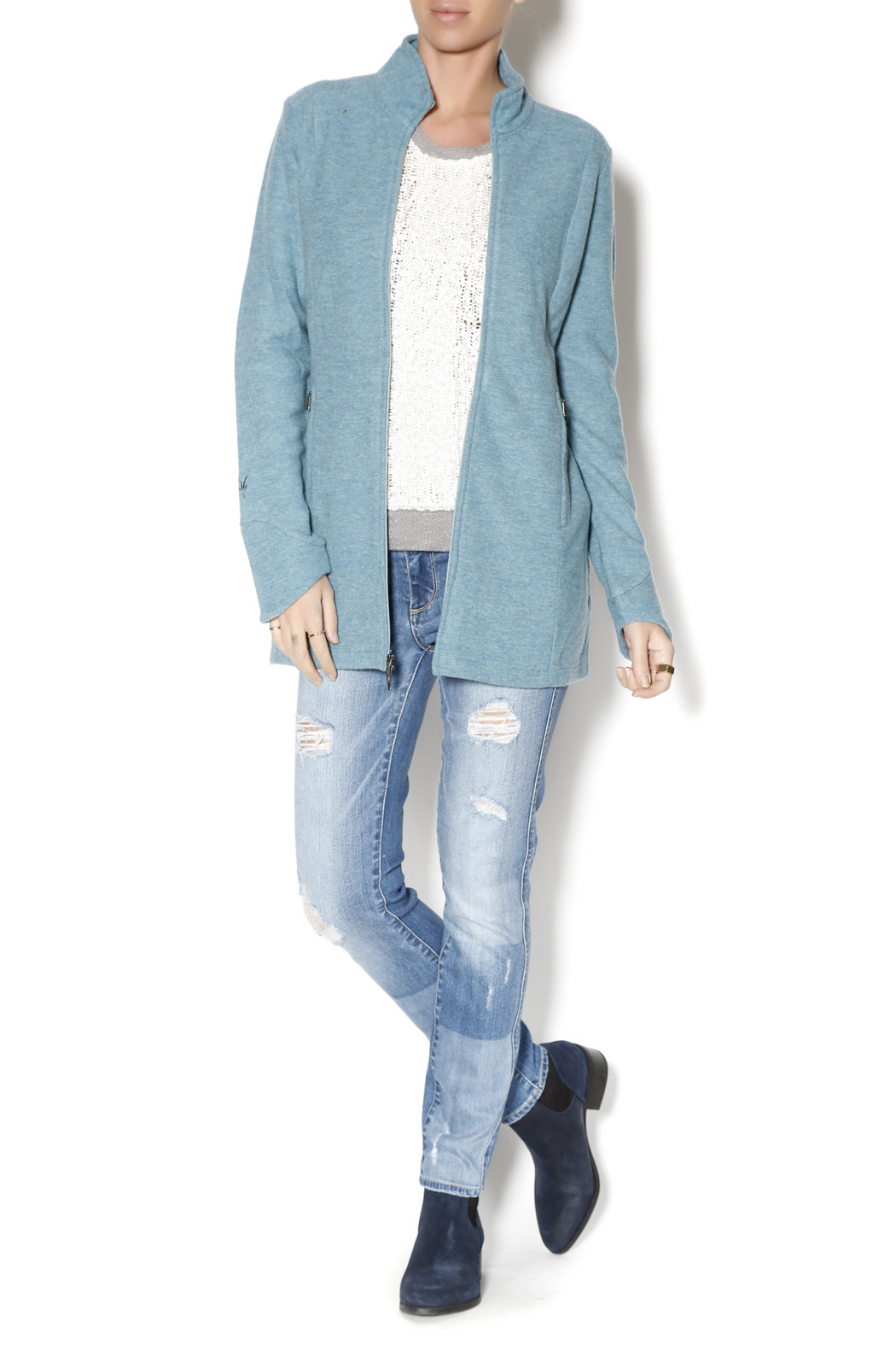 Ibex Ice Blue Jacket from New Hampshire by Ruggles & Hunt — Shoptiques