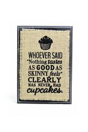 Bisrto & Block Cupcake Burlap Plaque - Product Mini Image