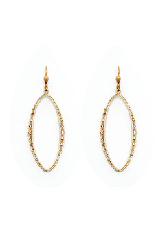 Shoptiques Product: Gold Crystal Earrings