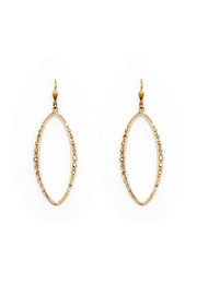 La Vie Parisienne Gold Crystal Earrings - Product Mini Image