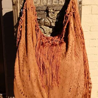 Shoptiques Fringe Hobo Bag