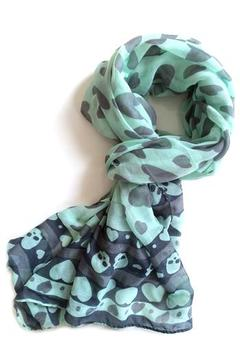 Shoptiques Product: Hearts & Skulls Scarf