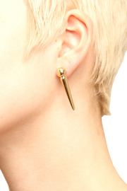 Elizabeth Knight Large Spike Earrings - Front cropped