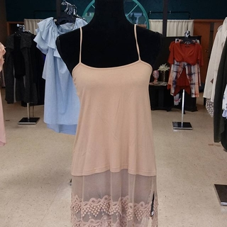 Taupe Lace Extender Tunic - Instagram Image