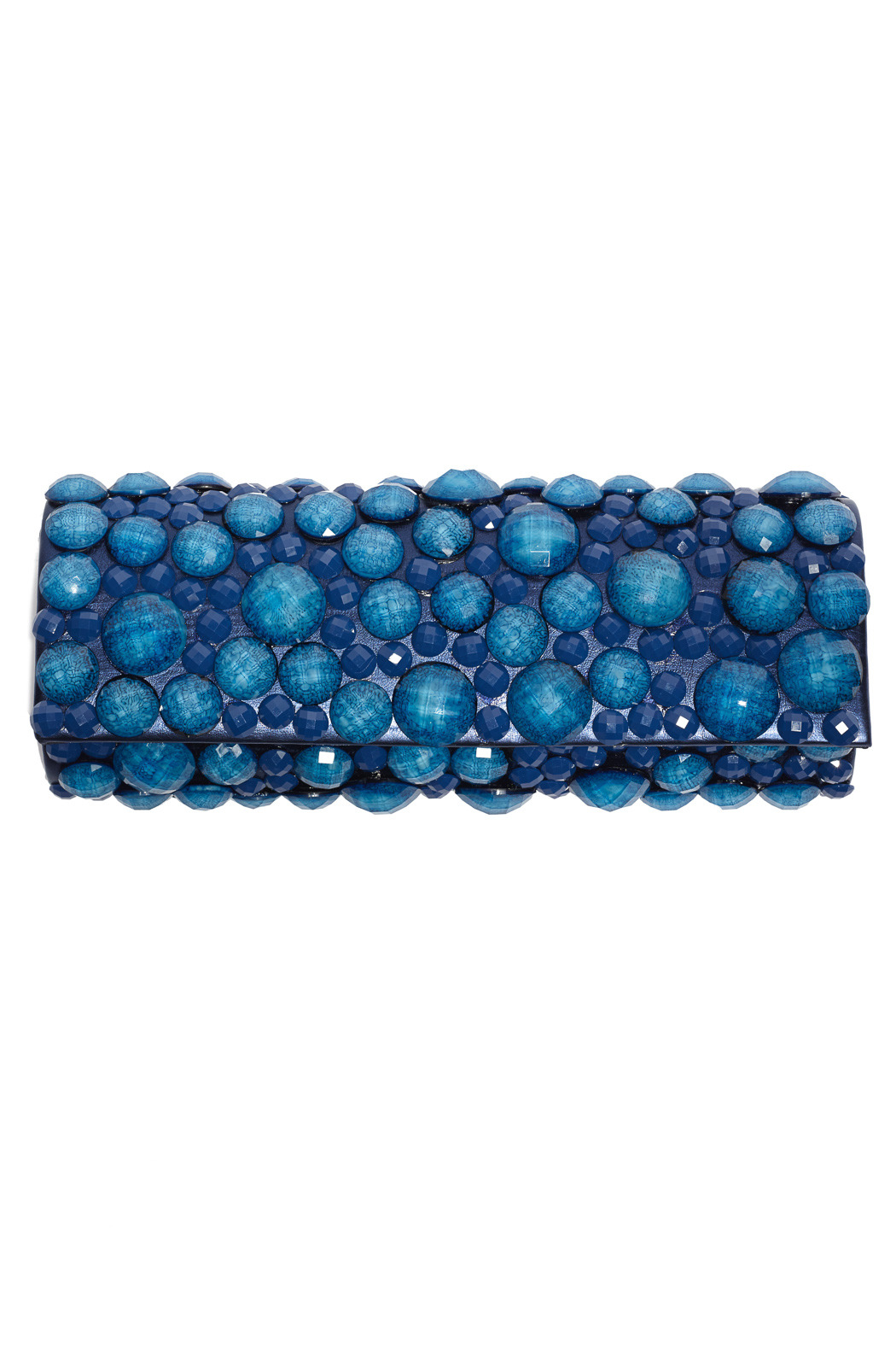 Sondra Roberts Blue Beaded Clutch - Front Cropped Image