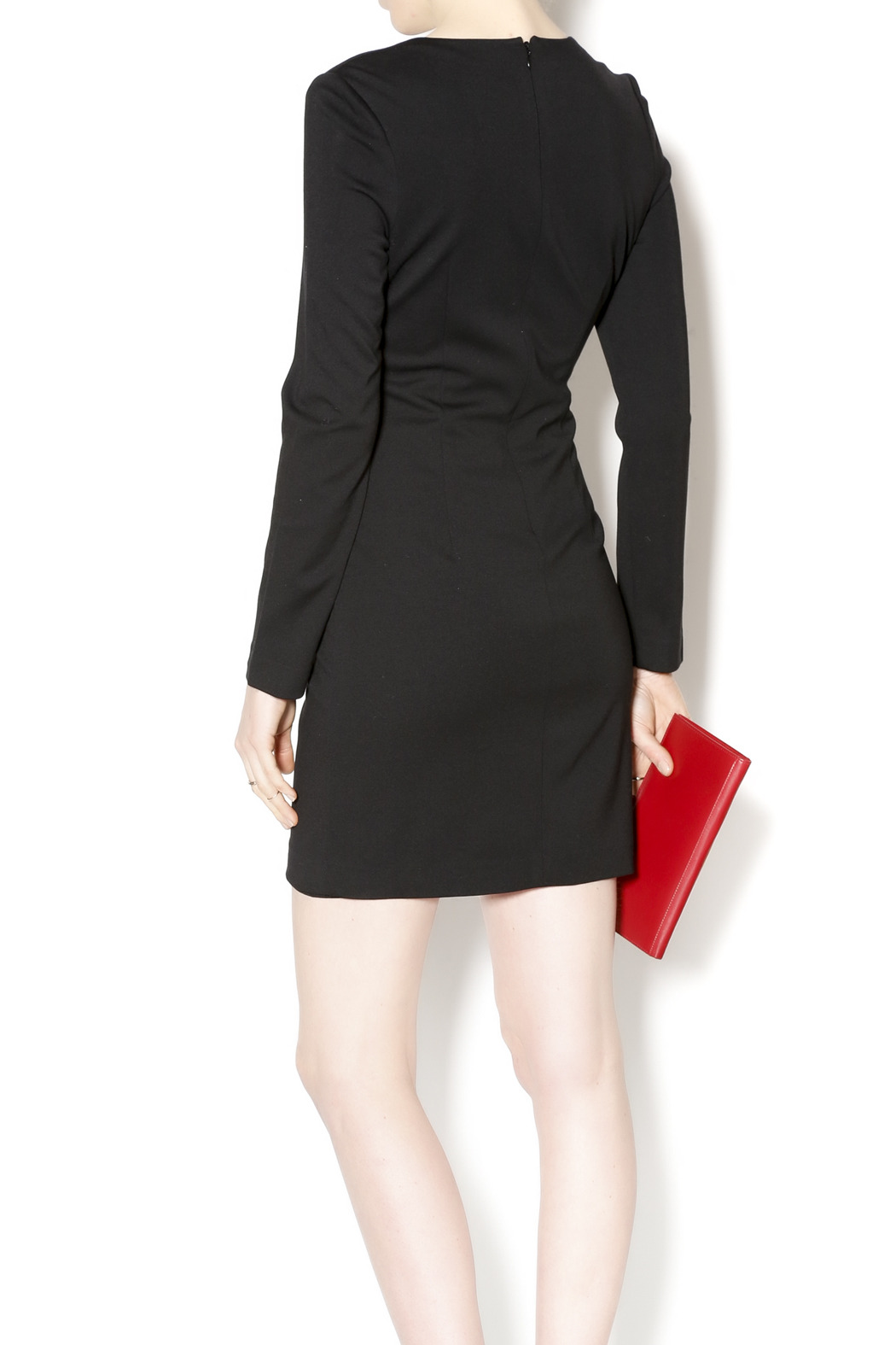 Black Label Black Scoop Hem Dress - Back Cropped Image