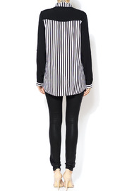 Shoptiques Product: Vertical Stripe Blouse - Side cropped