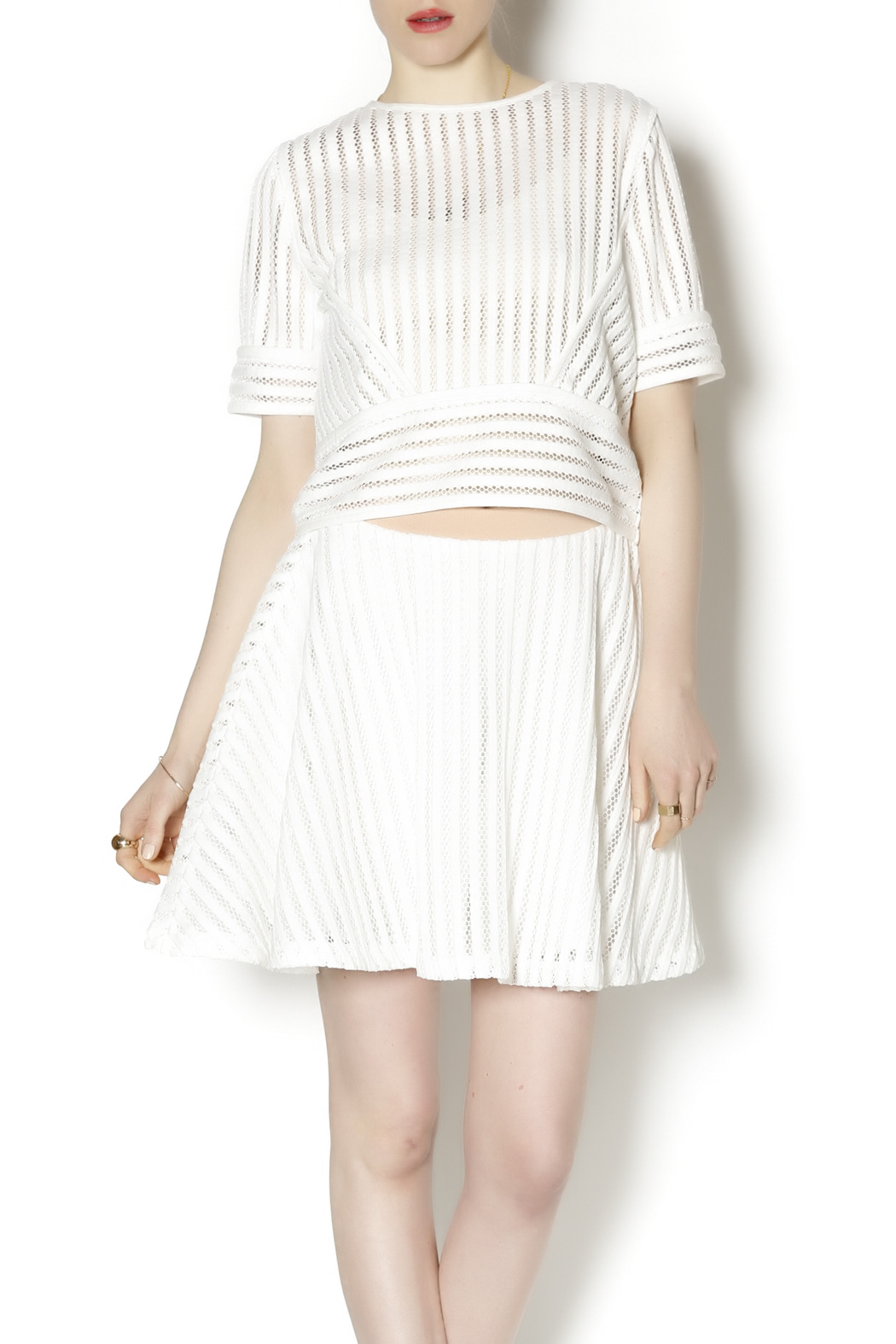 English Factory White Knit Two Piece - Main Image