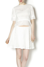 English Factory White Knit Two Piece - Front cropped