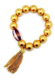 Made It! Gold Tassel Bracelets - Front cropped