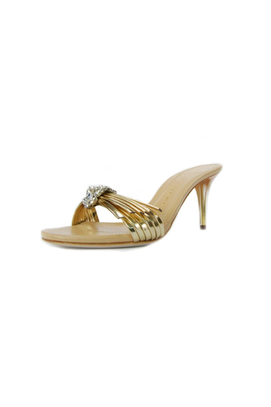 Luis Onofre Gold & Swarovski Mule - Front Full Image