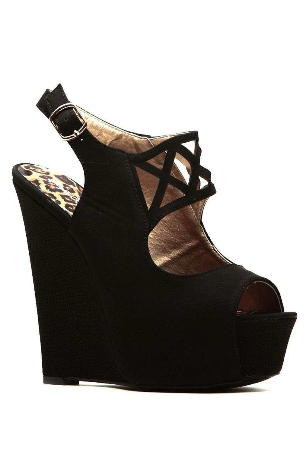 Qupid Cut Out Wedges - Front Full Image