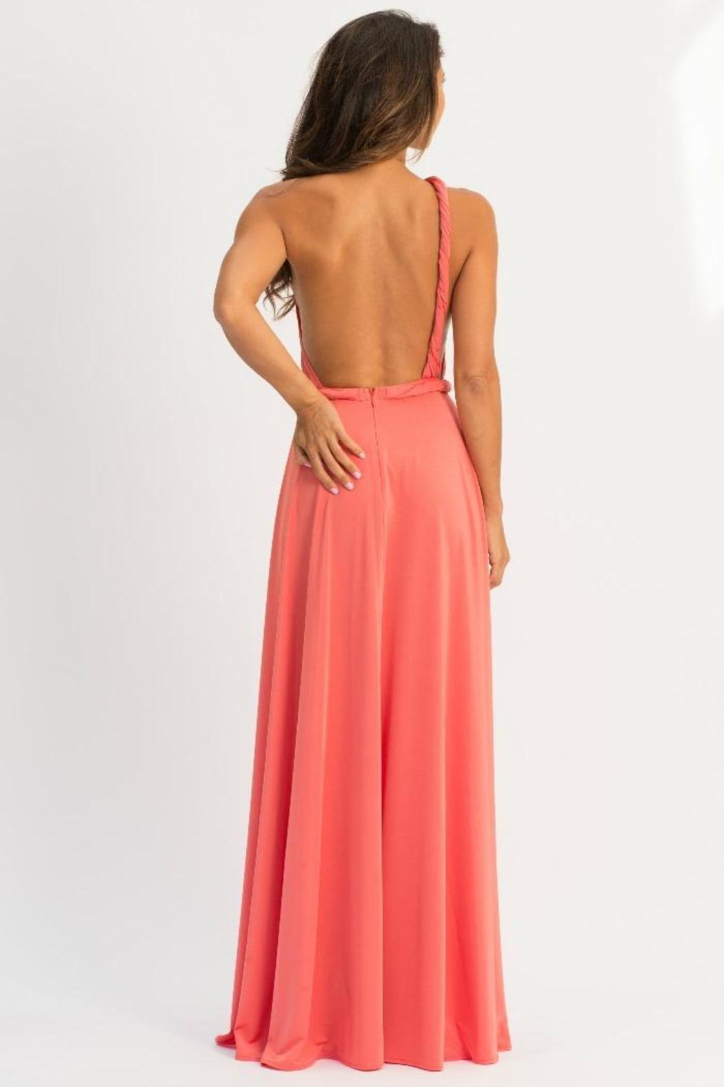 Abyss Vamp One-Shoulder Maxi - Back Cropped Image