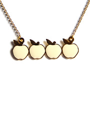 Bonnie Heart Apples Necklace - Front cropped