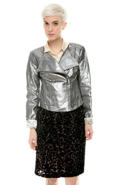 Shoptiques Product: Bright Leather Racer Jacket