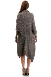 Abyss Alpaca Blend Cardigan - Back cropped