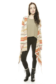 Shoptiques Product: Fringe Hooded Cardigan