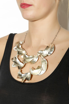 Zia Fulani Silver Statement Necklace - Alternate List Image