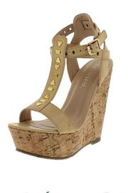 liliana Nude Wedge - Front cropped