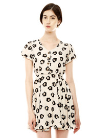 Shoptiques Product: Puff Sleeve Flower Dress