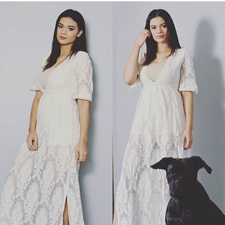 Unknown Factory Cynthia Lace Maxi - Instagram Image