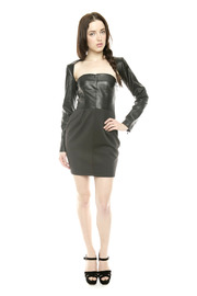 Lyudviga Couture Leather Sleeves - Front full body
