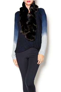 Shoptiques Product: Black Faux Fur Scarf