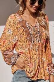 C + D + M Boho Floral Blouse - Product Mini Image