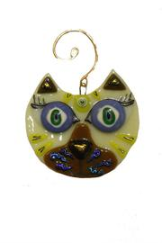 C Roses Glass Cat Ornament - Product Mini Image