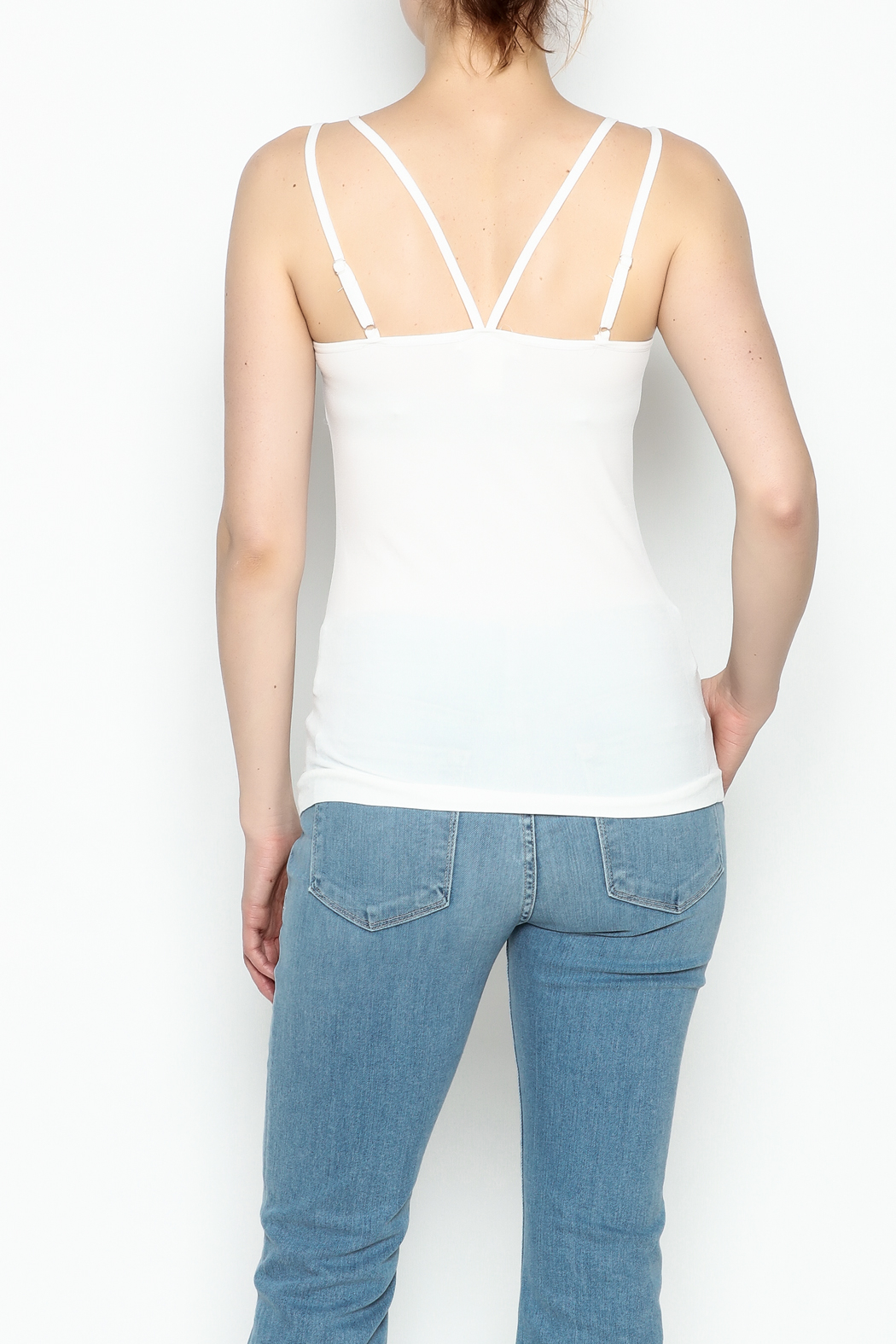 Ca Winner Metallic Neckline Tank - Back Cropped Image