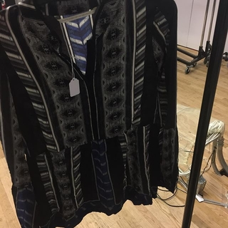 Twelfth Street by Cynthia Vincent Tribal Silk Blouse - Instagram Image