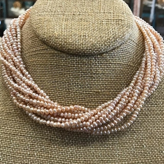 Shoptiques Product: Pink Multistrand Pearls