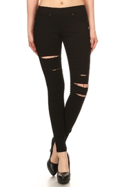 Ca Winner Black Distressed Jeggings - Product Mini Image