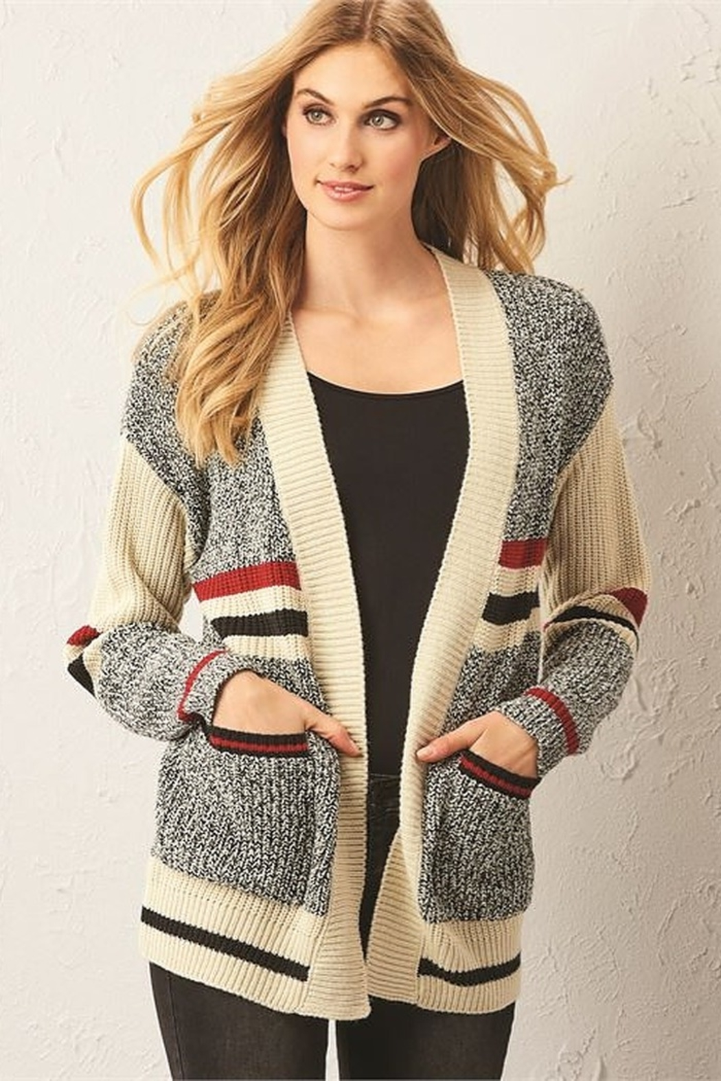 Charlie Paige Cabin Cardigan - Front Full Image