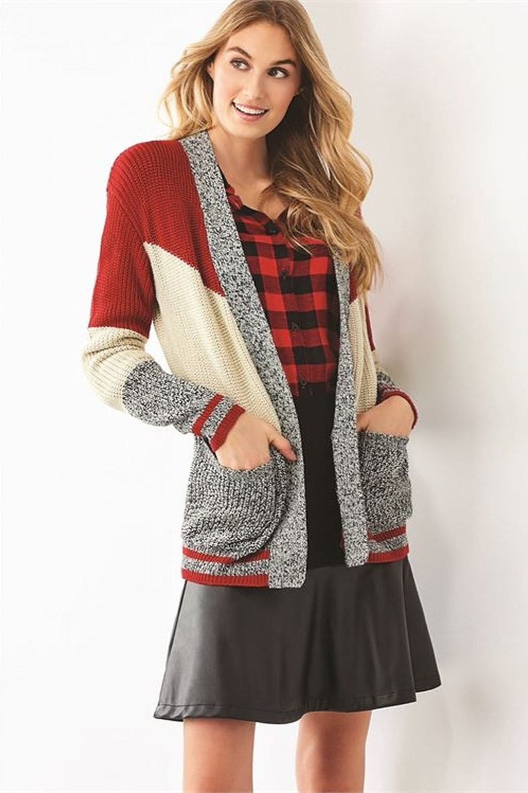 Charlie Paige Cabin Cardigan - Front Cropped Image