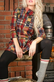 Pure by Urbanology Cabin Plaid Tunic - Product Mini Image