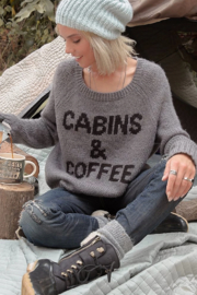 Wooden Ships Cabins & Coffee Raglan Sweater - Side cropped