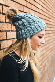 Pretty Little Things Cable Knit Beanie - Front cropped