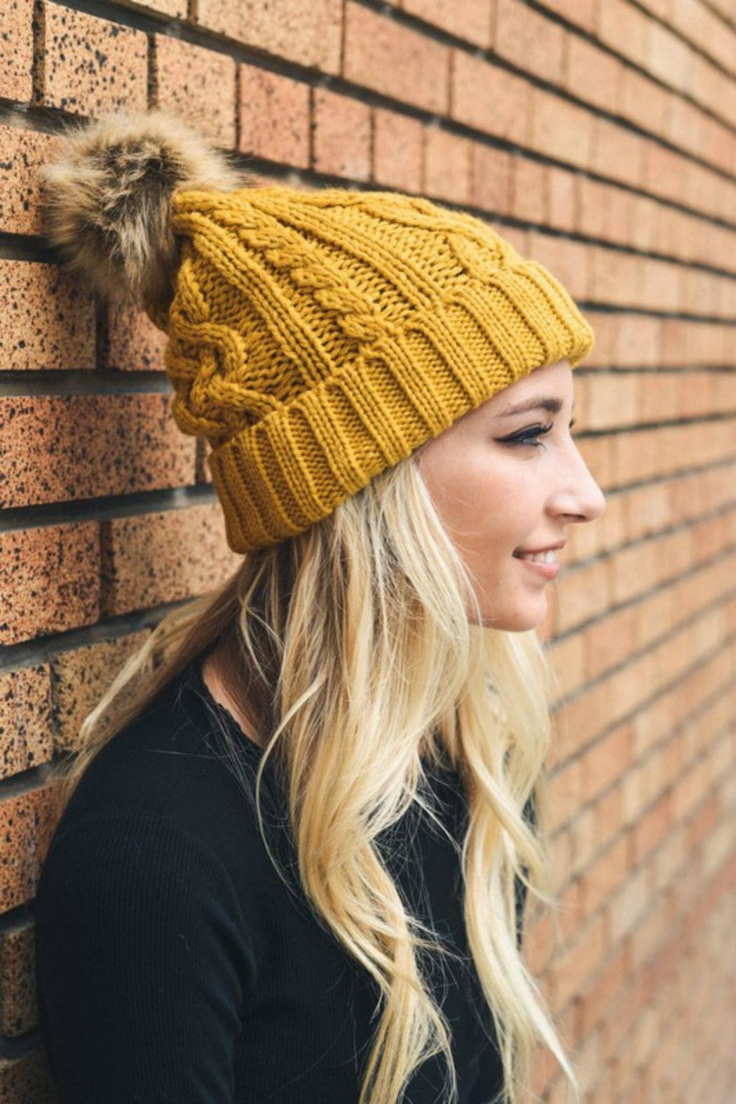 Pretty Little Things Cable Knit Beanie - Main Image