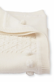 Mud Pie Cable Knit Blanket - Front cropped