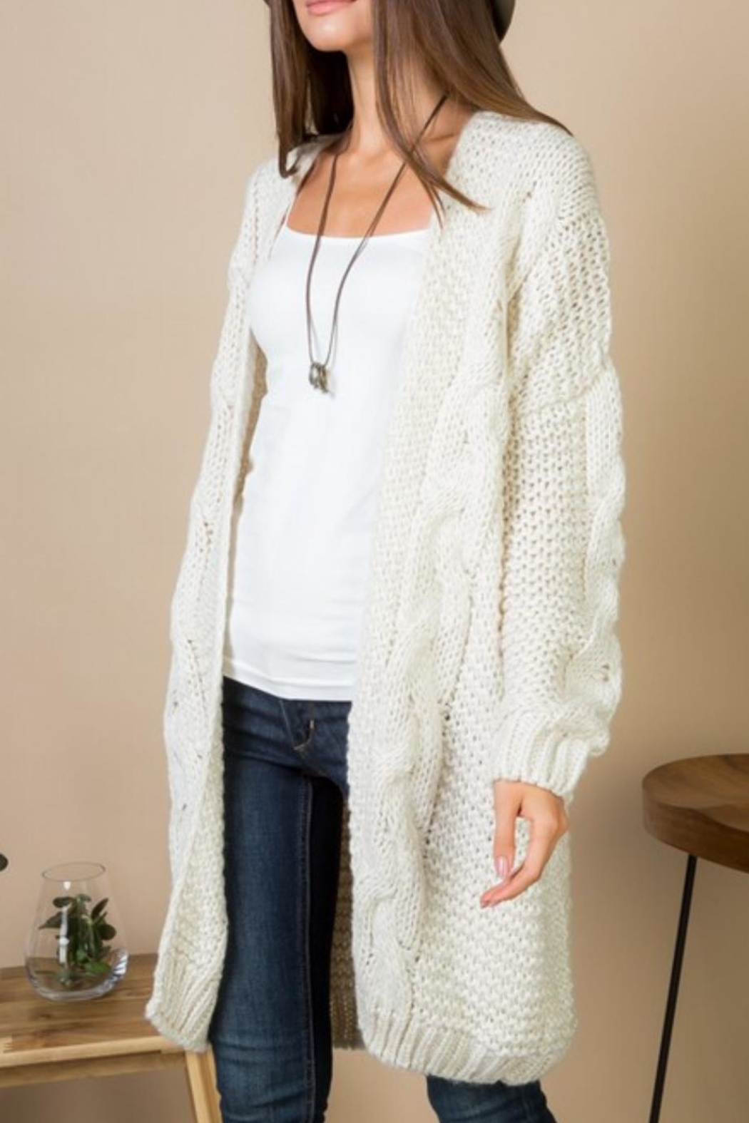 Gifted Cable Knit Cardi - Main Image