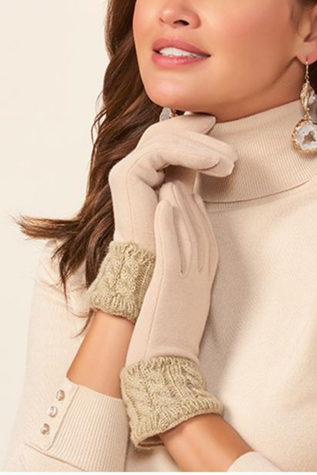 Giftcraft Inc.  Cable Knit Cuff Gloves - Main Image