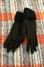 Giftcraft Inc.  Cable Knit Cuff Gloves - Front cropped